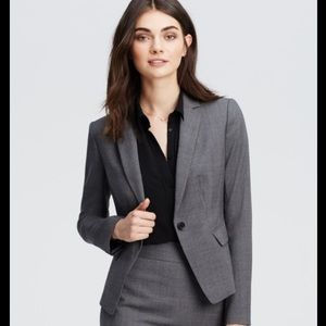 Ann Taylor Gray One Button Blazer ✅Offers